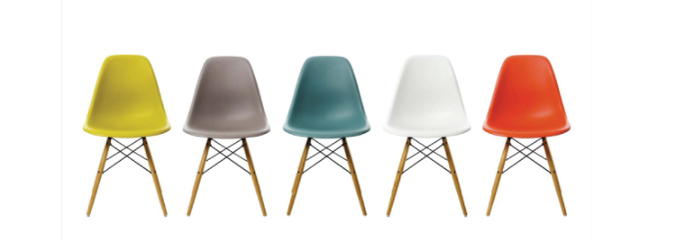 Mid Century Modern Interior Eames Chairs