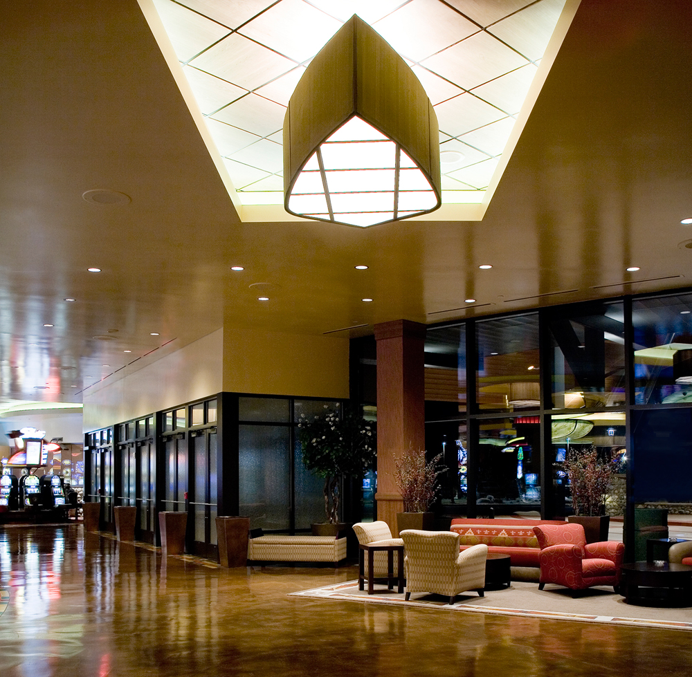 example of metallic paint in commercial interiors