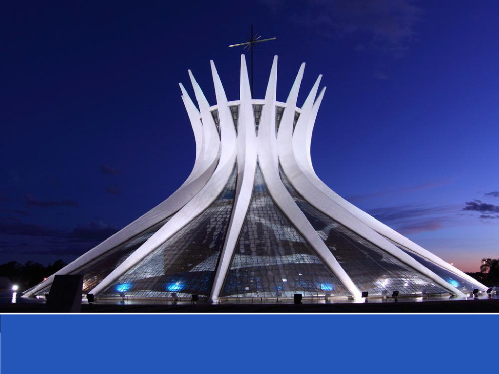 The world's most colorful buildings and colorful interior architecture Cathedral of Brasília