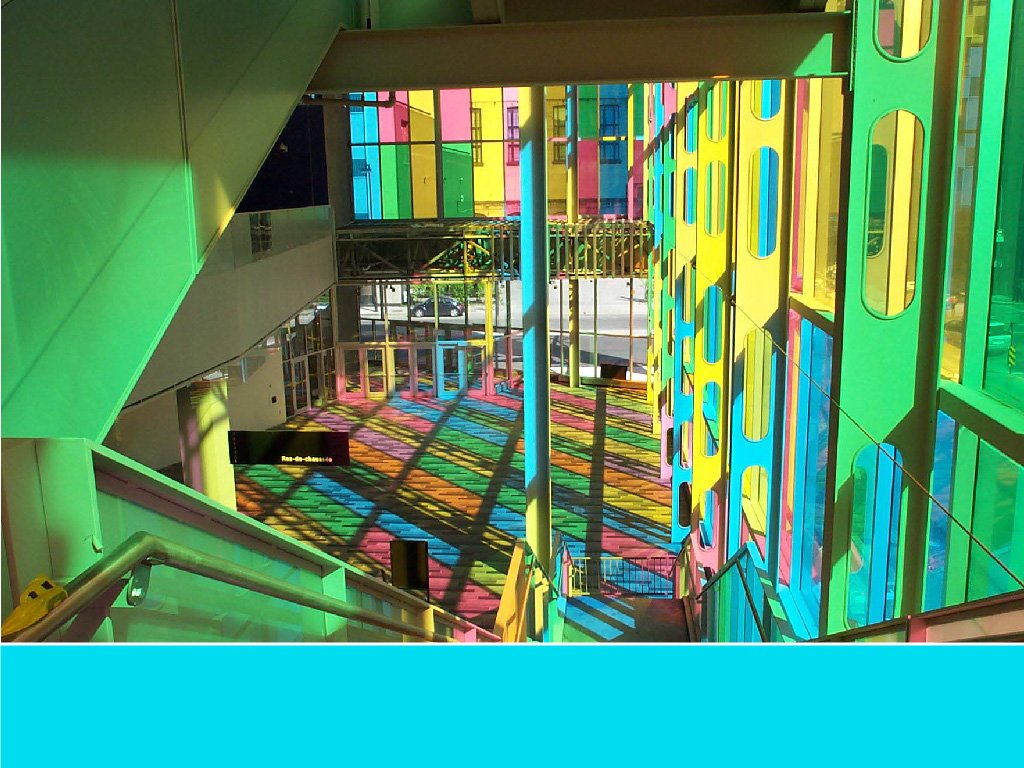 The world's most colorful buildings and colorful interior architecture Montreal Palais des Congres