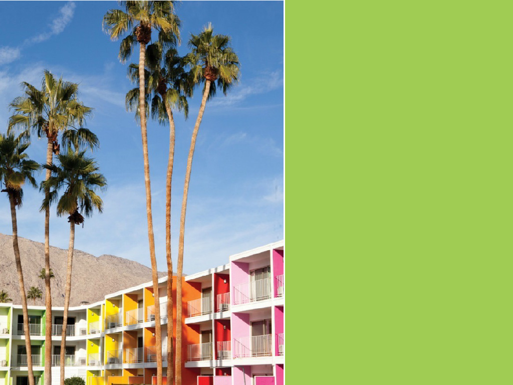 The world's most colorful buildings and colorful interior architecture Saguaro Hotel