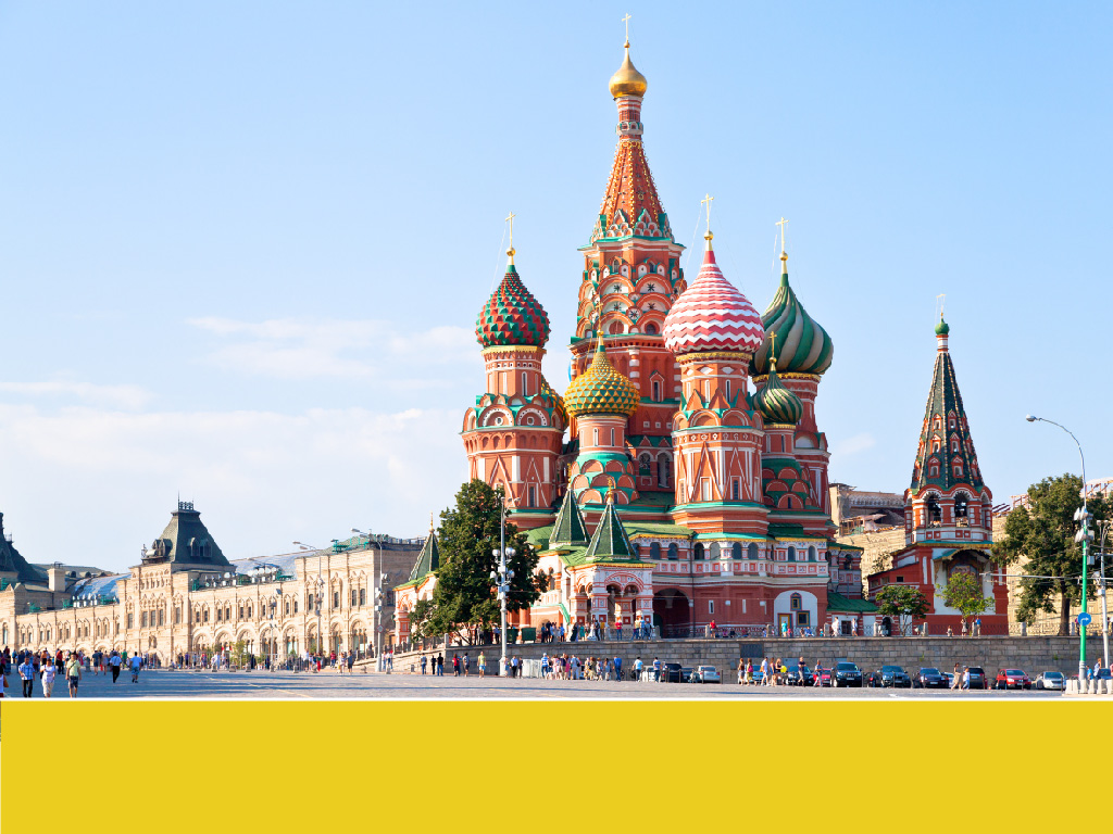 The world's most colorful buildings and colorful interior architecture St Basil's Cathedral