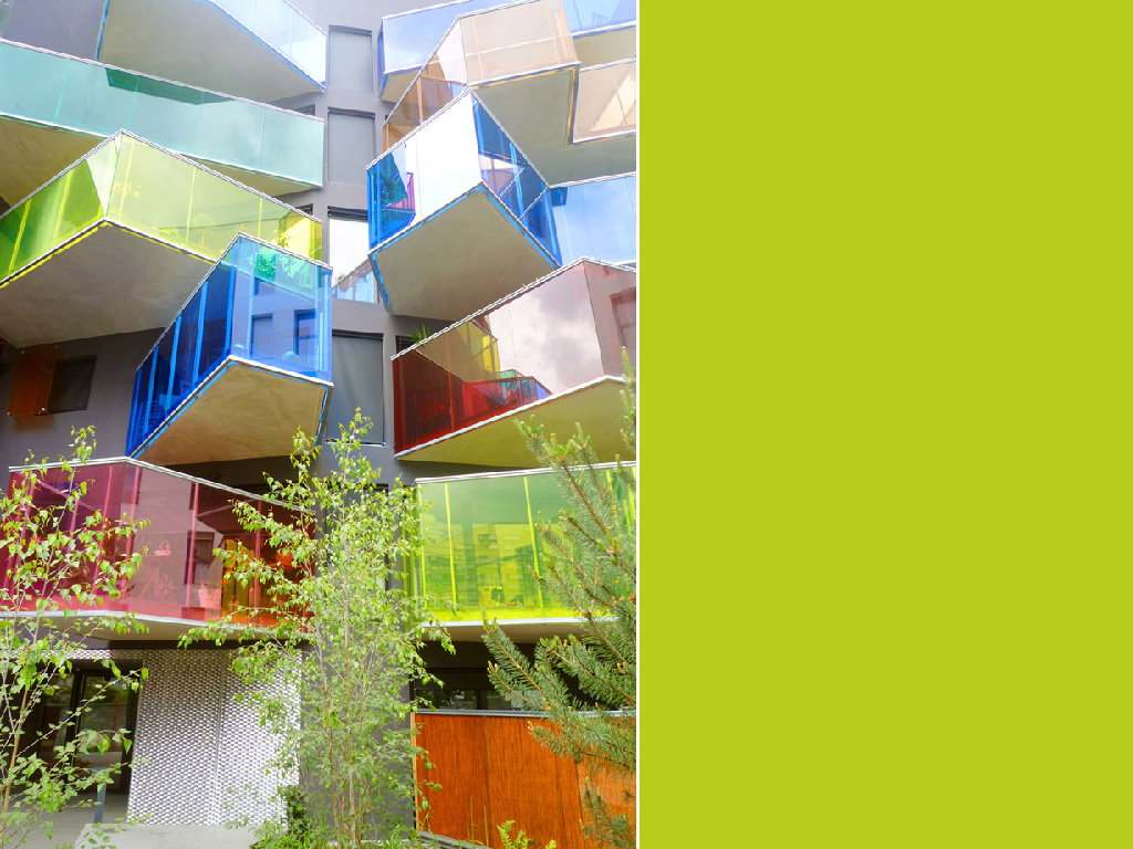 The world's most colorful buildings and colorful interior architecture Seguin Apartment Building