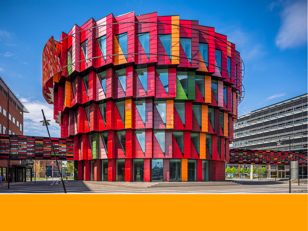 Kuggen Building The world's most colorful buildings and colorful interior architecture