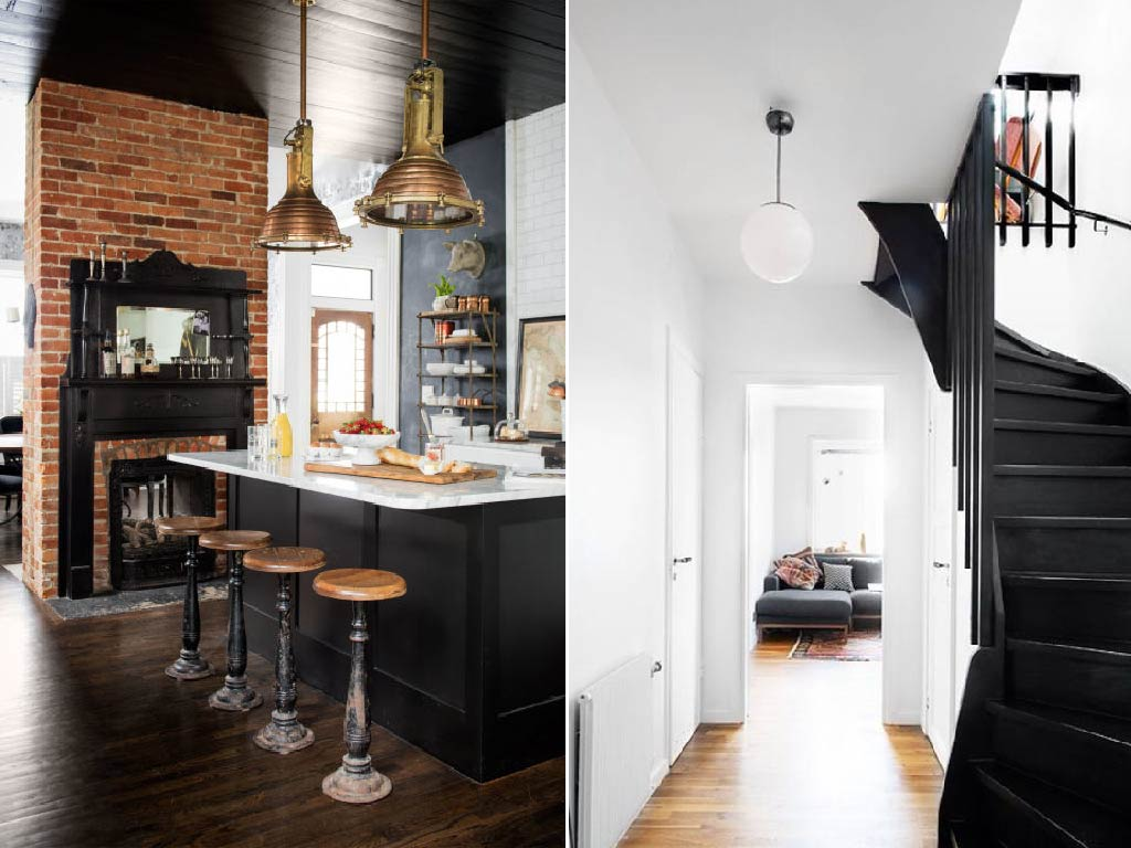 Bold black interiors 2017 interior color trends